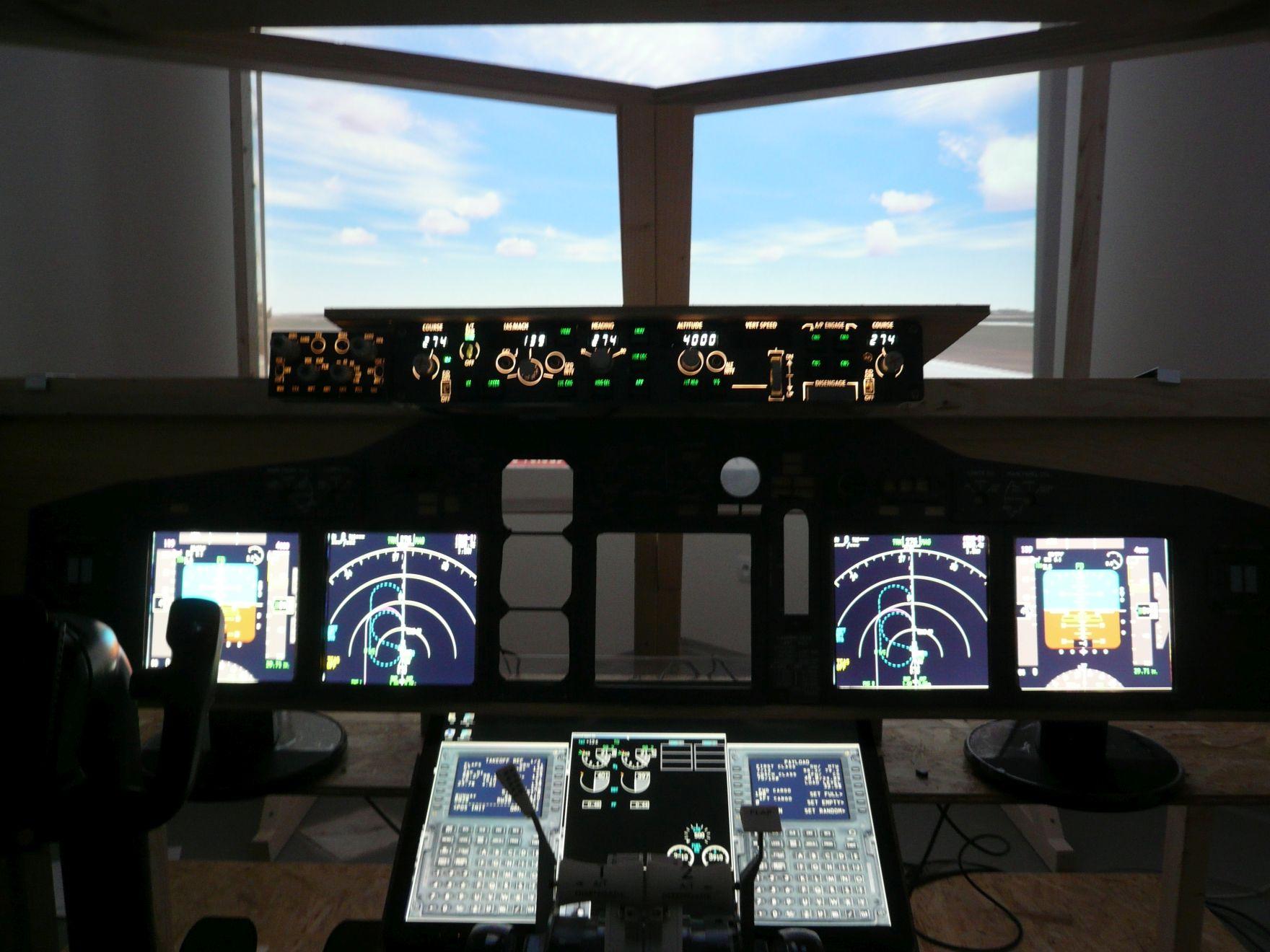 AirWine_letecký simulátor_stavba